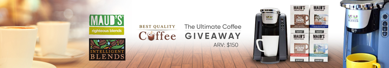 Coffee Giveaways Mauds Coffee - Best Quality Coffee Enter to win a Universal Coffee Brewer and 96ct Variety Pack of Maud's Coffee